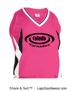 Youth Girls Stinger Racerback Softball Jersey Design Zoom